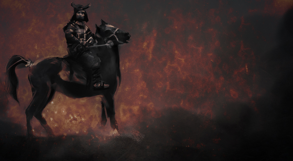 Samurai Digital Painting Storyboard